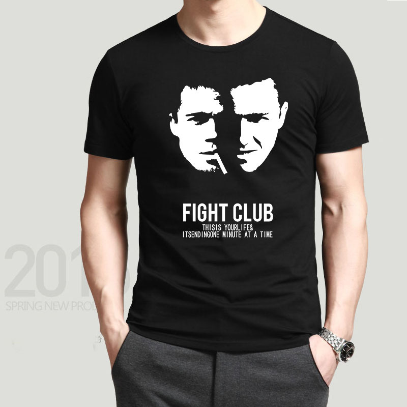personalized fight club men t shirts cool logo printing. Black Bedroom Furniture Sets. Home Design Ideas