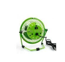 Free shipping USB fan big wind mute fan rotation 4 inches of wrought aluminum mini dormitory