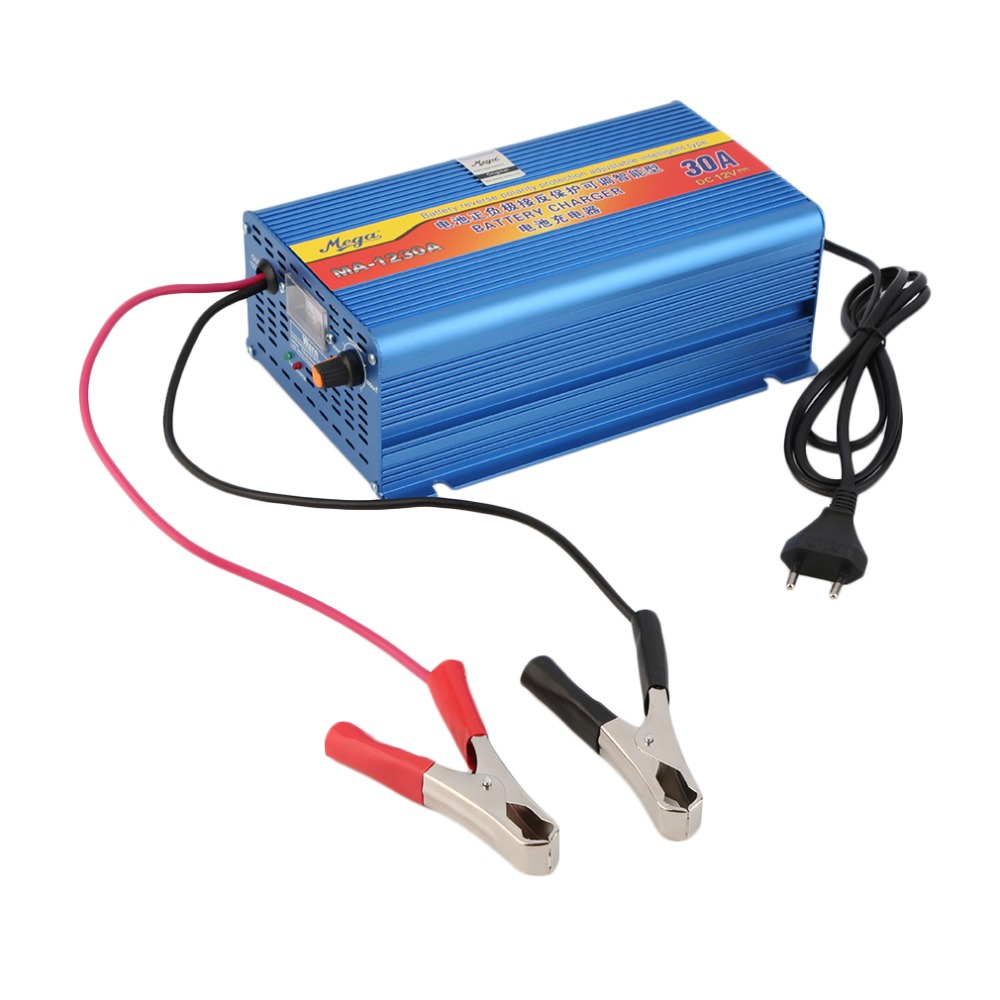 12V 30A Lead Acid Battery Chargers Car Battery Charger Motorcycle Battery Charger EU Plug Blue Wholesale(China (Mainland))