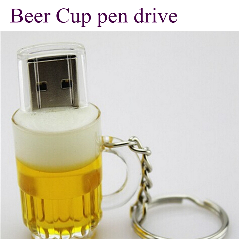 Real capacity Beer Cup pen drive usb flash drives 64GB 32GB 16GB 8GB 4GB 2GB memory usb stick external storage pendrive(China (Mainland))