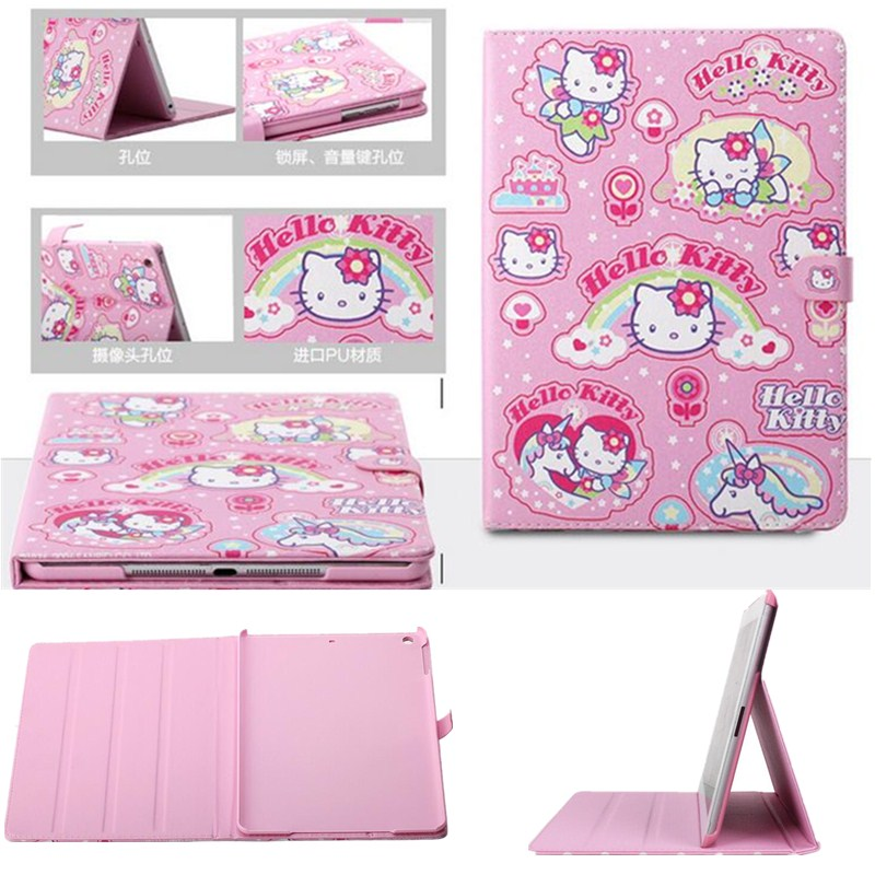 Cute Hello Kitty Kids Cover For IPad Mini 4 Case Magnetic Smart PU Leather Stand Tablet Case Cover Case For Gitls Gift 7.9 Inch(China (Mainland))