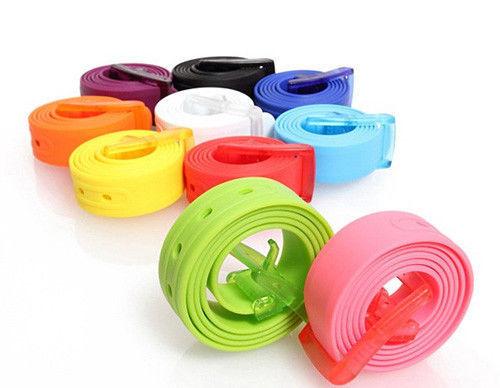 2014 Fashion Belts/Candy Color Unisex Belts/Silicone Plastic Belt Fashionable Style(China (Mainland))