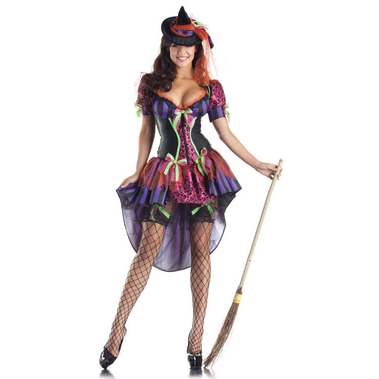 Adult Sexy gothic Witch Body Shape Halloween Costumes for Women disfraces carnival cosplay clothing fancy dress(China (Mainland))