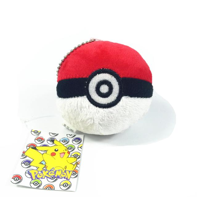 """3 """" покемон Pokeball плюшевые игрушки брелок 8 см мягкую игрушку аниме покемон плюшевые игрушки в розницу биркой"""