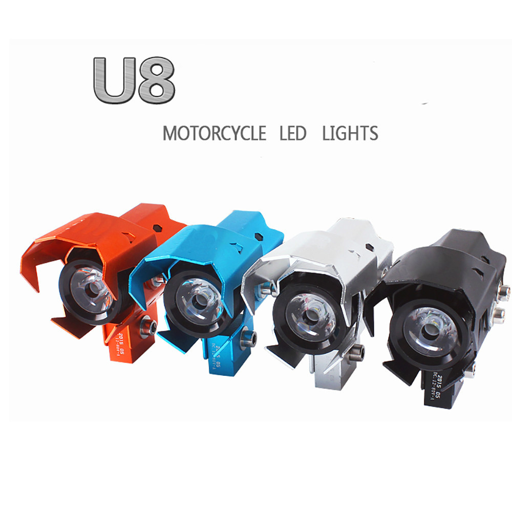 2pcs/lot 125W 3000LM Motorcycle Waterproof Wolverine CREE U8 LED Headlight Lamp 12-80V Motorcycle LED Driving Fog Spot Light<br><br>Aliexpress