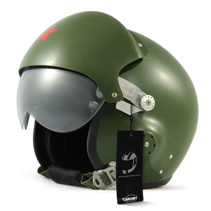 NEW Protective Motorcycle Helmet Dual Visor Full Helmet Adjustable Size High Duty Vintage Motocicleta Capacete Green<br><br>Aliexpress