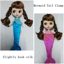 2017 HOT Fashion 1 PCS Slightly hook silk Mermaid quilts for Blyth Doll Clothes Doll Accessories Christmas Toys Gift(China (Mainland))