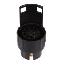 7 Pin to 13 Pin Converter Adapter Car Truck Trailer Plug Socket 12V Copper Contact Engineering plastics Insulation Trailer ME3L(China (Mainland))