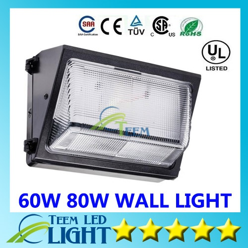 Oversea warehouse stock CREE 60W 80W 9000lm led wall pack Outdoor Wall Mounted light meanwell driver DLC ETL Listed led lightig<br><br>Aliexpress