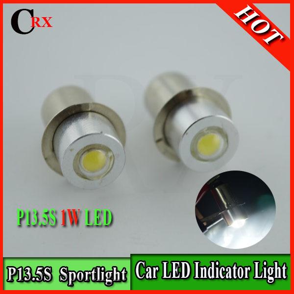 2 X New Maglite Led Upgrade Flashlight Kit Bright White 1Watt P13.5s PR2 PR3 PR4 DC3-18V 6000K Free Shipping(China (Mainland))