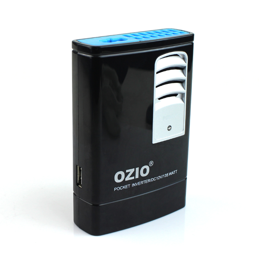 OZIO 130W Portable Power inveter 110V AC outlets usb charger,car dc 12v to 110v ac inverter adapter laptop charger notebook(China (Mainland))