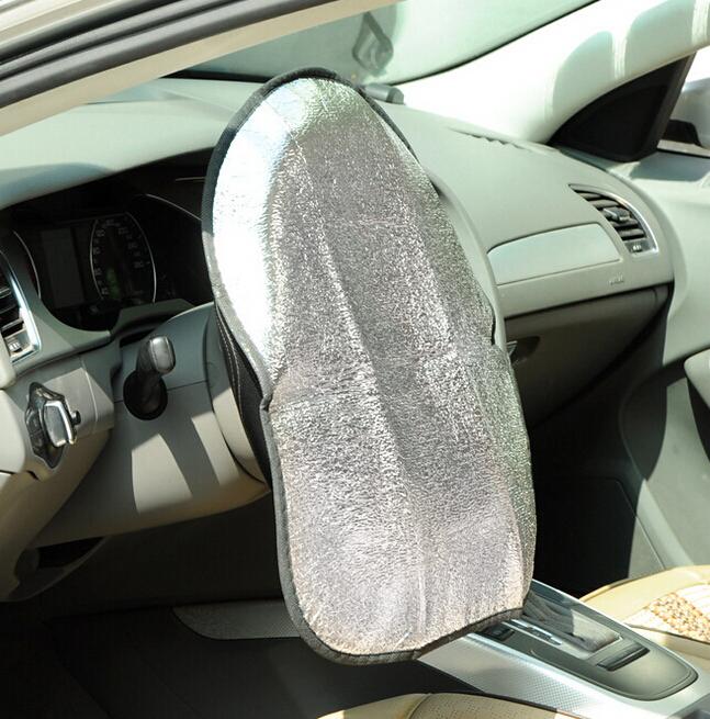 Двойной сгущать алюминиевой фольги анти-горячий автомобильная машина руль от солнца крышки