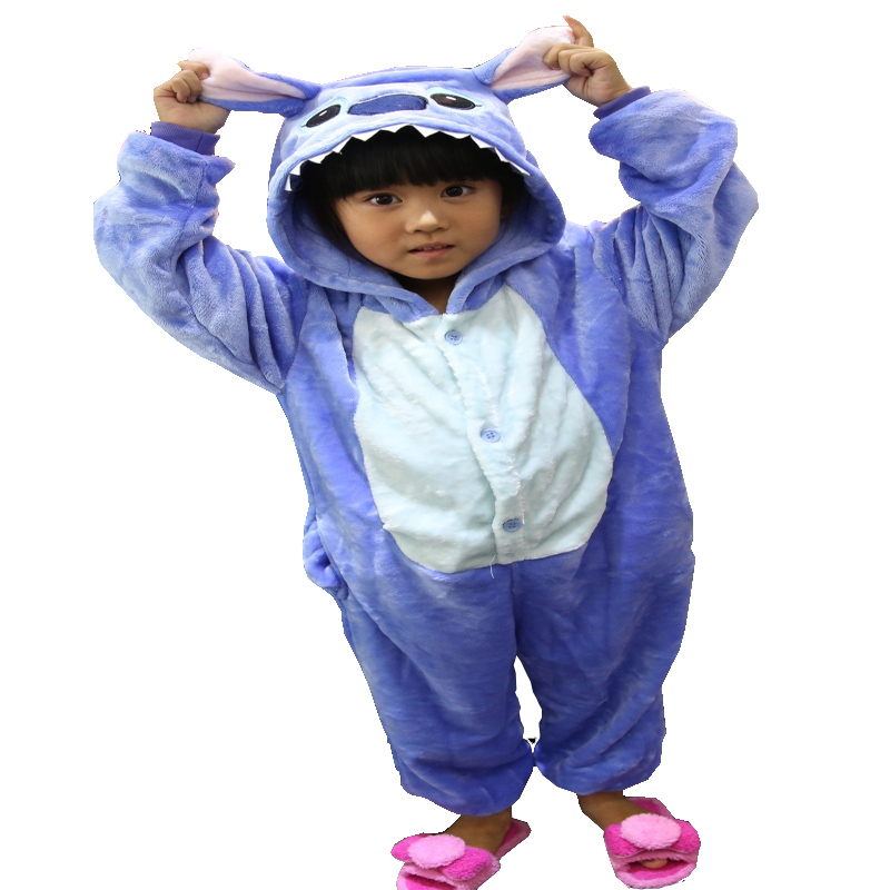Pink/Blue lilo Stitch Childrens Cartoon Animal Flannel Pajamas for Boys Girls Pijamas Pyjamas Birthday &amp; Christmas Gifts<br><br>Aliexpress