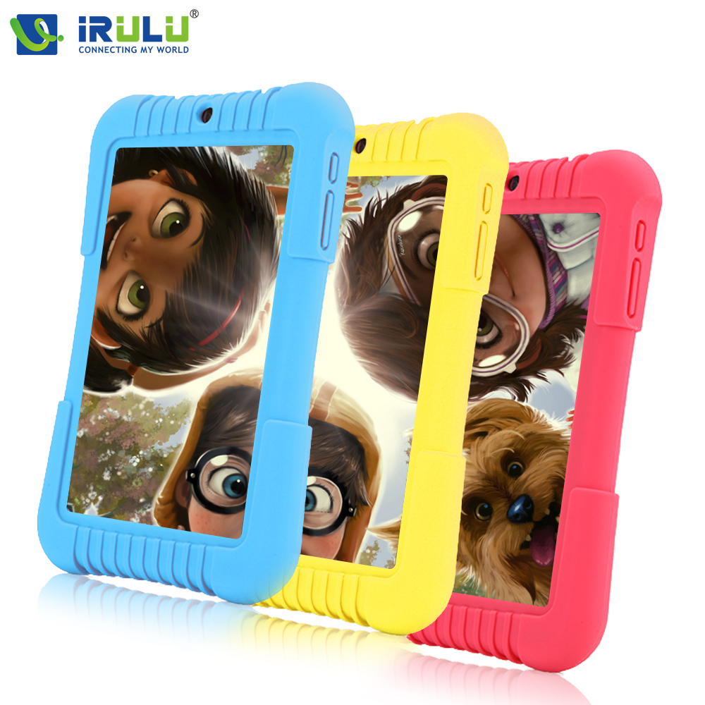 """2016 Original iRULU Y3 7"""" Babypad 1280*800 IPS A33 Quad Core Android 5.1 Tablet PC 1G/16G With Silicone Case iRULU Kids Tablet(China (Mainland))"""