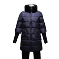 Womens Winter Jackets 2016 New Thickening Contracted Long Down Jacket Cotton Winter Atand Collar Ehinestone Qide-waisted HM071