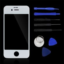 Front Replacement Part Lcd Glass Tools Kit Screen Repair White  for iPhone 4G (China (Mainland))