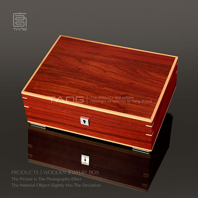 2016 top rated red sandalwood wood jewelry watch storage
