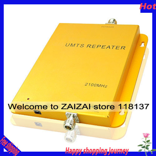 FREE SHIPPING Direct Marketing UMTS 2100 MHZ Mobile Phone Signal Amplifier Repeater Booster(China (Mainland))