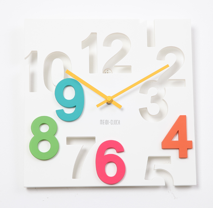 A033 modern design wall clock colorful decor clocks watch watches high quality Home Decoration free ship(China (Mainland))