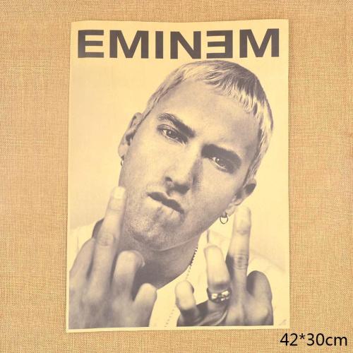 1pcs Rap Singer Eminem Kraft Vintage Paper Poster Wall Sticker Bar    Vintage Eminem Poster