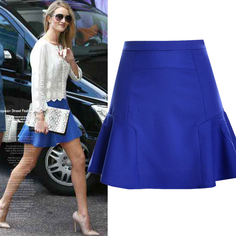 new 2016 summer skirts women solid A Line miniskirts super natural Chiffon European and American style