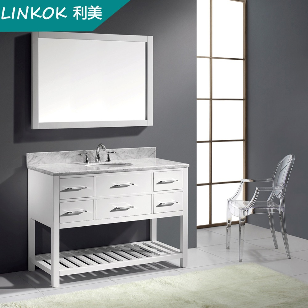 Linkok Furniture Selling well style commercial white modern bathroom vanity(China (Mainland))