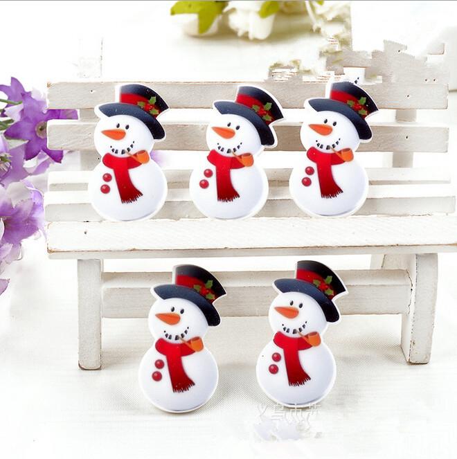39*20mm 50pcs Flatback Resin Christmas snowman Cabochons, Kawaii Planar Resin Flatback Hair Bow Center embellishments Decoden(China (Mainland))