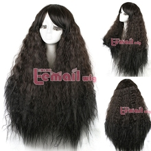 Free Shipping 90cm Rhapsody Halloween Wig For Women Lady Long Curly Dark Brown Cosplay wig(China (Mainland))