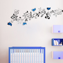 Buy Creative PVC Butterfly flower vine wall stickers home decor waterproof DIY decoration background wallpaper wall sticker for $4.06 in AliExpress store
