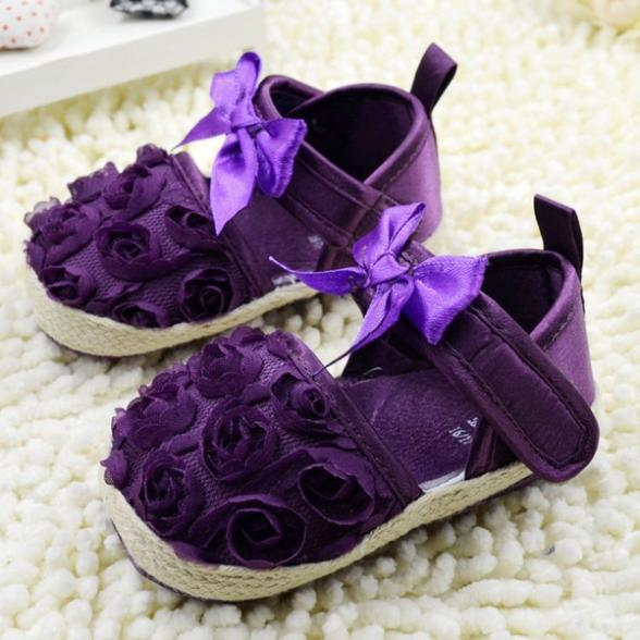 spring 2014 summer Rose Flowers First Walkers Soft Sole sapatos beby girl shoes Infant/kid/Newborn antislip R11 - GuangZhou Baby Product Co., Ltd store