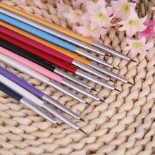 Nail Brushes Styling Tools 12Pcs Colorful Nail Brushes Nail Art Design Painting Tool Pen Polish Brush Set Kit DIY nail tools(China (Mainland))