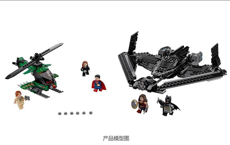 555pcs Batman vs Superman Marvel DC Comics Clash Heroes DIY Building Blocks Compatible 07019