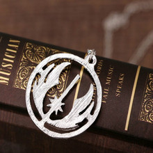 HSIC Dropshipping 2016 Movie Jewelry Star Wars Jedi Jewelry Silver Men Power Necklace Pendants Statement Jewelry