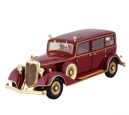 Cadillac 1932 classic cars 1:18 High quality alloy car model simulation Red Qing emperor car Vintage Toy Collection(China (Mainland))