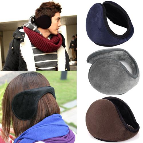 1 x New Unisex Men Women Soft Fleece Winter Warm Earmuffs Ear Warmers 5 Colors Free Shipping(China (Mainland))
