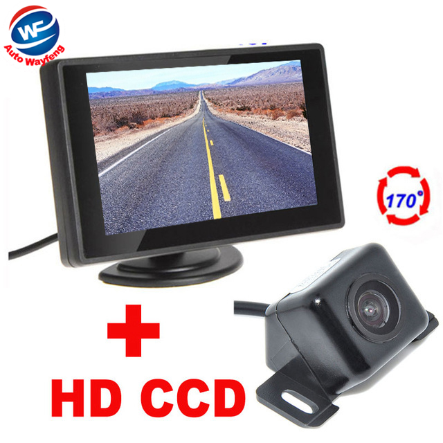 2 in 1 4.3 Digital TFT LCD Car Parking Monitor + 170 Degrees general Car Rear view Camera Auto Parking Assistance System(China (Mainland))
