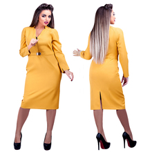 Buy 2017 New Designer Women Plus Size Dress 6XL Maxi Vestidos Ladies Deep V Neck Knee Length Autumn Straight Casual Sexy Dress for $14.73 in AliExpress store