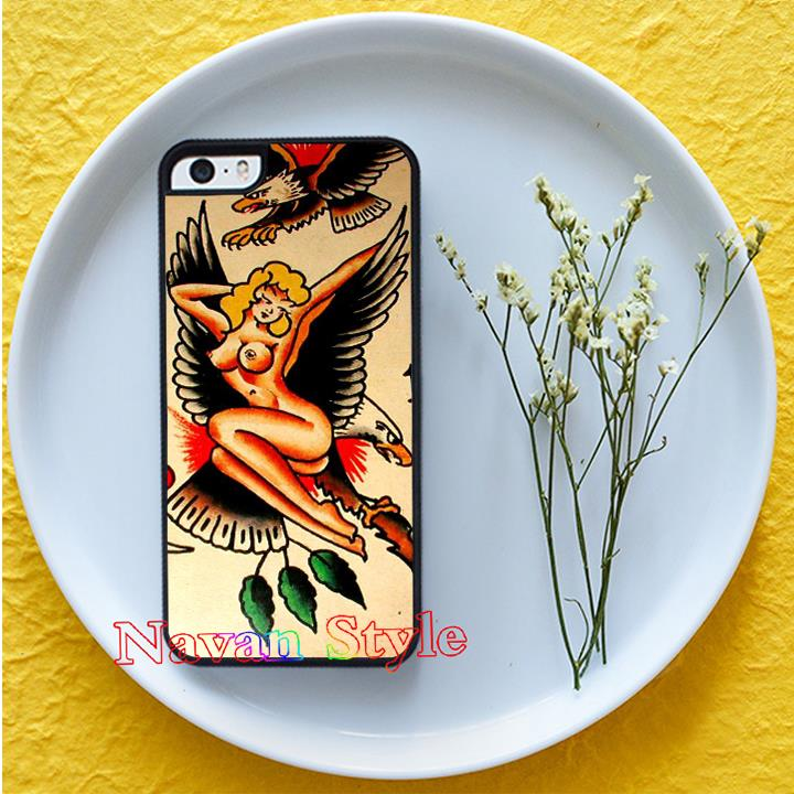 sailor jerry tattoo top selling cell phone case cover for iphone 4 4s 5 5s se 5c 6 6 plus 6s 6s plus 7 7 plus*#G4637BR(China (Mainland))