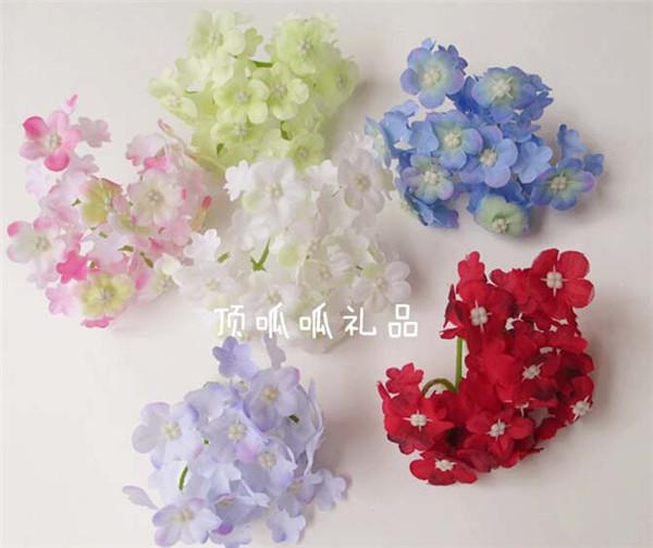 50pcs lot bulk artificial flowers heads 9cm silk hydrangea for wedding flower arrangement. Black Bedroom Furniture Sets. Home Design Ideas