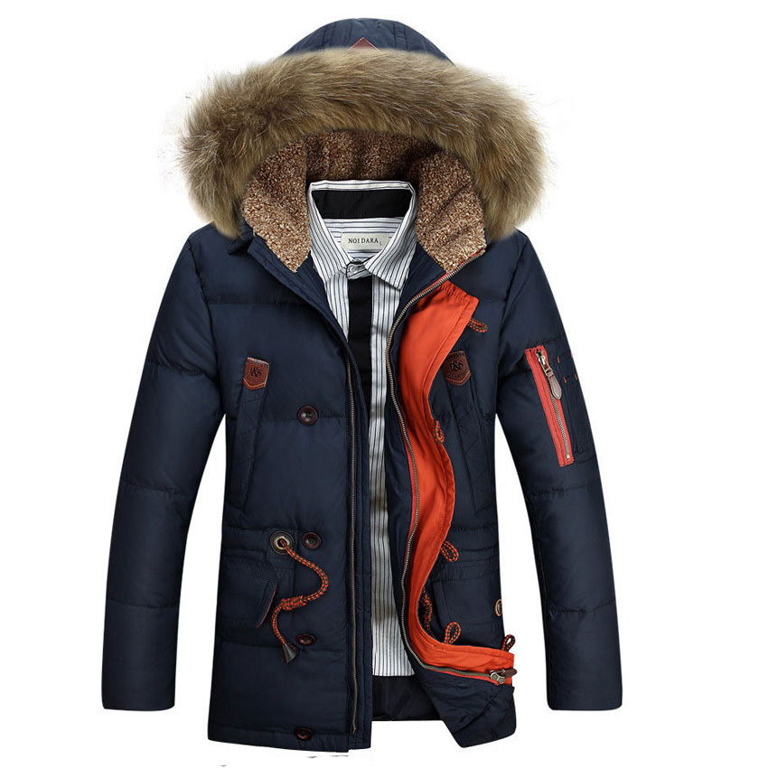 free shipping 2015 AFS JEEP  New Stylish,Big Fur Collar Down Coat ,Large Size &amp; Middle Length style , Leisure Down Coat 258Одежда и ак�е��уары<br><br><br>Aliexpress