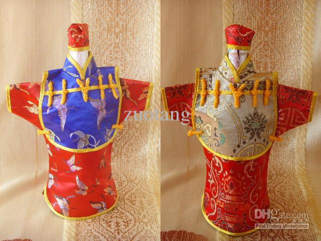 Creative Vintage Chinese style Hooded Wine Bottle Clothes Bag Festive & Party Table Decoration Silk Pattern Bottle Cover 10pcs/l(China (Mainland))