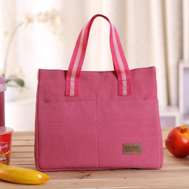 2016 New Canvas Thick Korean Ice Package Portable Insulated Lunch Bag Thermal Insulated Cooler Picnic Bag for Women Snack Bags(China (Mainland))