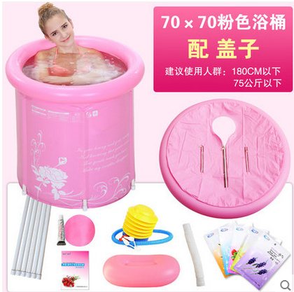 2 colors Thick folding bathtub,inflatable pvc swiming pool children adult lid