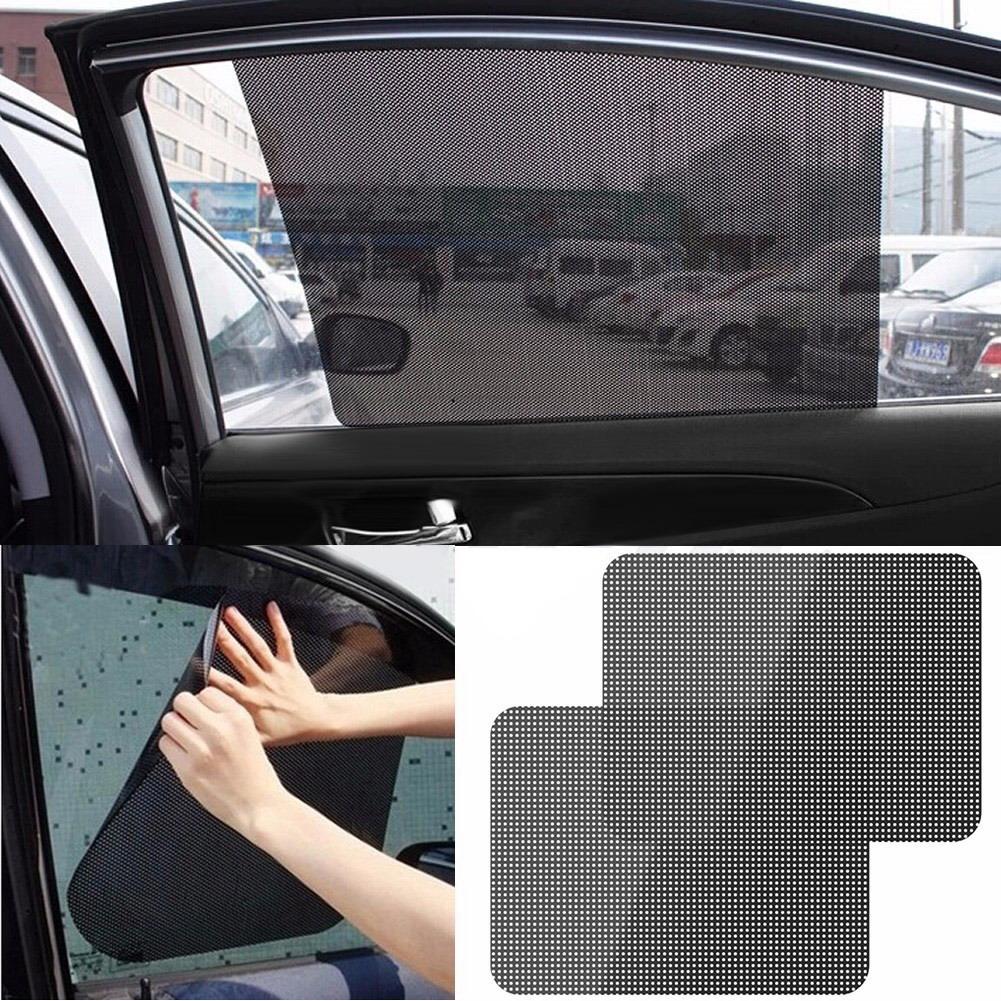 2Pcs Window Foils Sun Shade Car Windshield Visor Cover Block Side Window Solar Sunshade UV Protect Car Window Film Car Styling(China (Mainland))