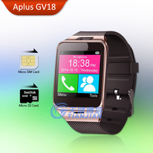 Bluetooth Smart Watch Android Wear Aplus GV18 Smartwatch with SIM Card Intelligent Waterproof Watches Mobile Phone Smartwatches