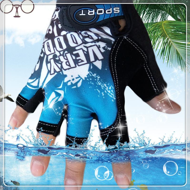 Fashion Sport gloves Half finger mittens fingerless men women glove Exercise half finger luva fitness male