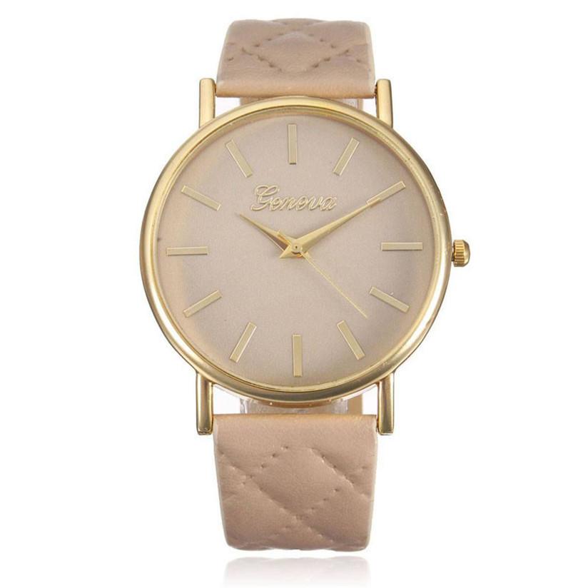 Hot Marketing Stylish optimum clock brand Casual Roman Leather Band Analog Quartz Women Wrist Watch Aug5<br><br>Aliexpress