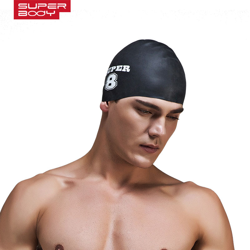 SUPERBODY 2017 Men and Women Universal Swimming Caps New Swimming Cap Silicone Waterproof Protect Ear Particle Swimming Cap(China (Mainland))