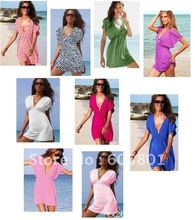 New Arrivel Wholesale solid striped elastic ice silk materials beach dress, holiday dress bikini cover 10 pcs discount shipping(China (Mainland))