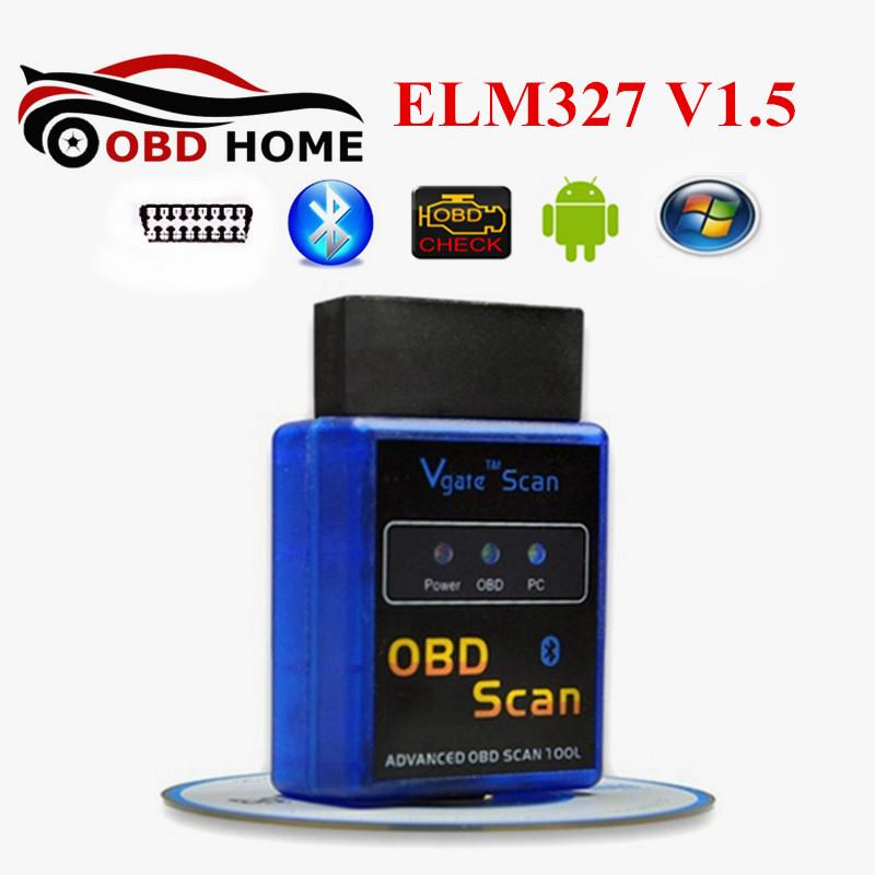 Vgate Bluetooth ELM327 Diagnostic Scanner Can-Bus Vgate Scan ELM 327 Scanner Tool Check Engine Light Car Code Reader Tester OBD2(China (Mainland))